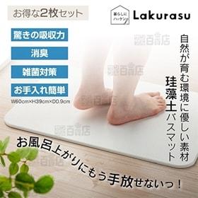 [2枚セット/約W60×H39cm] Lakurasu/珪藻...