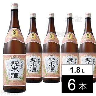 【6本】黒松白鹿 純米酒 1.8L瓶