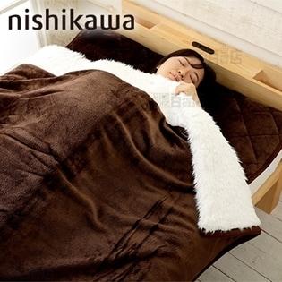 [ブラウン/シングル] 西川/とろふわシリーズ あったか毛布...