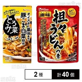 ハウス食品2種セット(凄味担々うどんの素/とろみ菜 オイスタ...
