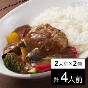 【冷凍】2人前×2個 ミールキット カレーハンバーグ タイヘイ|10分調理|包丁不要|時短・簡単