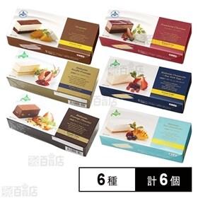 【計6個】北海道小樽市で製造のこだわりケーキ6種セット