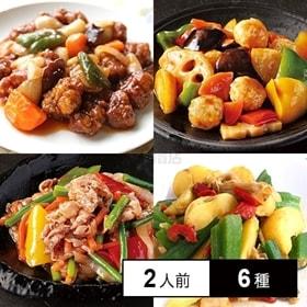 【冷凍】ミールキット 2人前×6種(酢豚、牛肉と彩野菜のコチ...