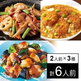 【冷凍】ミールキット 2人前×3種(ひれかつ煮、 鶏と彩り野...
