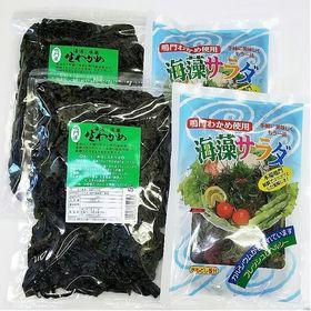 鳴門わかめ&海藻サラダセット 鳴門産 生わかめ(塩蔵200g×2)海藻サラダ(塩蔵100g×2)