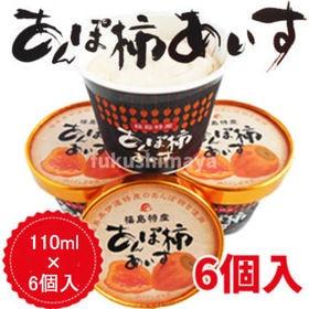 【6個入】あんぽ柿 アイス 干し柿(あんぽ柿)を贅沢に使ったアイス | こんなアイス見たことない!あんぽ柿の果肉が入った不思議な