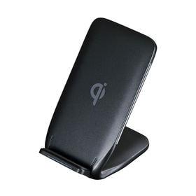 Qi規格準拠のワイヤレス充電スタンド(Qi対応・ブラック) ...