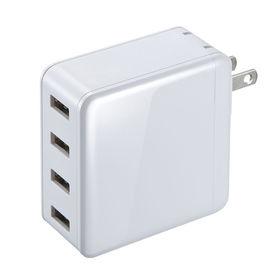 USB充電器(合計6A・4ポート・ホワイト) サンワサプライ