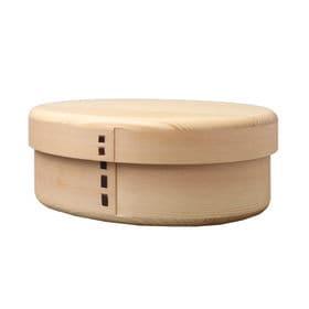 木製わっぱ一段弁当箱 丸みアール仕上げ | 天然木製の伝統工芸品 曲げわっぱのお弁当箱です