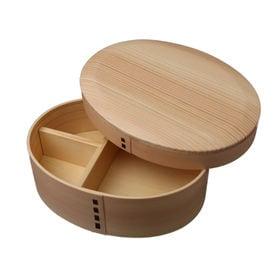 曲げわっぱ 弁当箱 かぶせ型丸み一段 丸みアール仕上げ | 天然木製の伝統工芸品 曲げわっぱのお弁当箱です