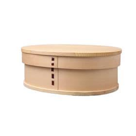 曲げわっぱ 弁当箱 NEW 一段 ナチュラル | 天然木製の伝統工芸品 曲げわっぱのお弁当箱です