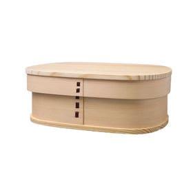 曲げわっぱ 弁当箱 NEW 四角一段 ナチュラル | 天然木製の伝統工芸品 曲げわっぱのお弁当箱です