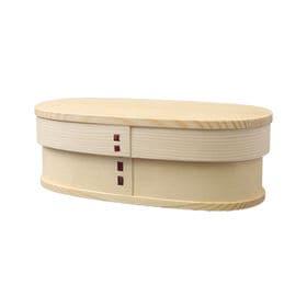 曲げわっぱ 弁当箱 NEW スリム一段 ナチュラル | 天然木製の伝統工芸品 曲げわっぱのお弁当箱です