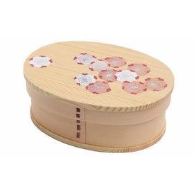 曲げわっぱ 弁当箱 一段 雅 桜 -sakura- | 天然木製の伝統工芸品 曲げわっぱのお弁当箱です