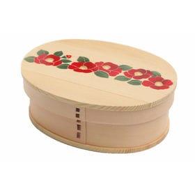 曲げわっぱ 弁当箱 一段 -camellia- | 天然木製の伝統工芸品 曲げわっぱのお弁当箱です
