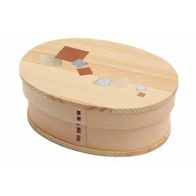 曲げわっぱ 弁当箱 一段 -3 color foil- | 天然木製の伝統工芸品 曲げわっぱのお弁当箱です