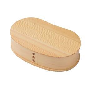 天然木製 豆型一段弁当箱 大 ナチュラル