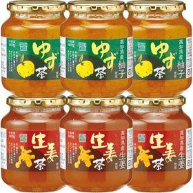【600g×6個(各3個)】ゆず茶・生姜茶セット