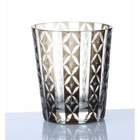 手作り色ガラス 切子グラス オールド ブラック QD-289/G | 職人技光る手作り切子グラスです