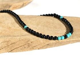 オニキス ターコイズ デザインネックレス メンズ 天然石