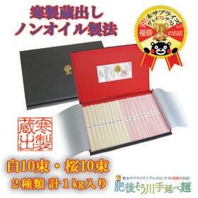【化粧箱入り約11食入(50g×20束)】手延べ寒製蔵出さく...
