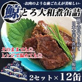 【2セット12缶】鯨とろ大和煮缶詰 昔なつかしい伝統の味