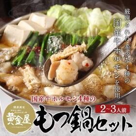 特製もつ鍋セット(牛ホルモン、スープ、麺)国産牛MIXホルモ...