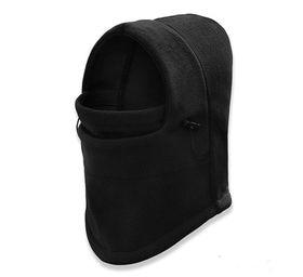【ブラック】防寒 防風 ネックウォーマー フェイスマスク