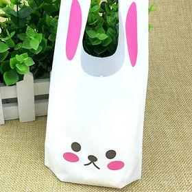 【ピンクS】うさぎ ギフト 用 ビニール袋 50枚入り