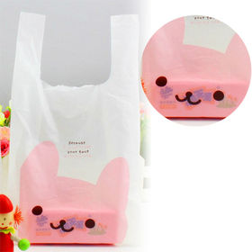 【うさぎ】かわいい レジ袋 100枚入り Mサイズ