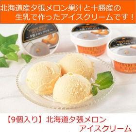 【9個入】北海道 夕張メロンアイス | 高級ブランドメロン「夕張メロン」の果汁と十勝産生乳で作ったアイスクリームです。