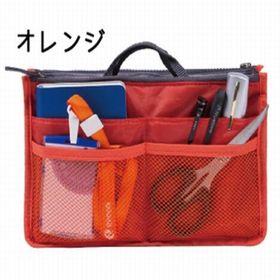 【オレンジ】バッグインバッグ インナーバッグ 散らかるカバン...