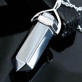 テラヘルツ鉱石六角柱ペンダント【1秒間に1兆回の振動】 | 動画必見!クール&メタリックな質感がオシャレにキメる!アスリートも身につける人気アイテム