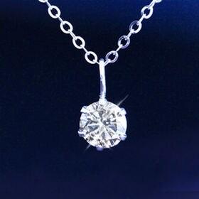 GE 【鑑別書付】天然ダイヤモンド0.3ctK18ペンダント...