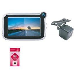 ドライブレコーダーFullHD+バックカメラ+microSD...