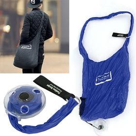 コンパクト買い物バッグ(ブルー) | 斜め掛けで使えるから、重い荷物も持ち運び楽々◎