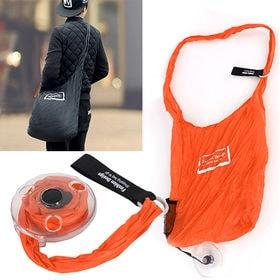 コンパクト買い物バッグ(オレンジ) | 斜め掛けで使えるから、重い荷物も持ち運び楽々◎