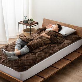 【ブラウン】プラス2℃の吸湿発熱あったか着る毛布