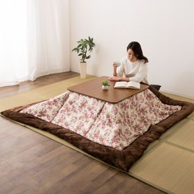 【アイボリー】ジャガード織りのあったかこたつ布団 長方形S