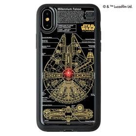 黒 iPhone Xケース スター・ウォーズ FLASH M...