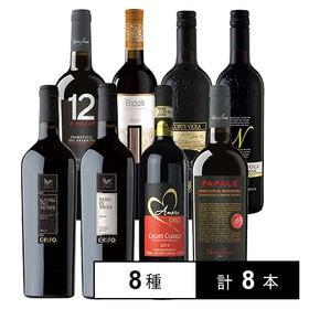 お肉に合わせる イタリア産 赤ワイン 8本セット