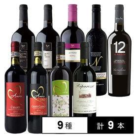 イタリア周遊 赤ワイン9本セット