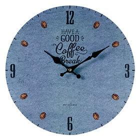 【COFFEE BREAK <blue>】モチーフクロック ...