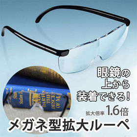 拡大鏡メガネ めがねルーペ (2個セット)
