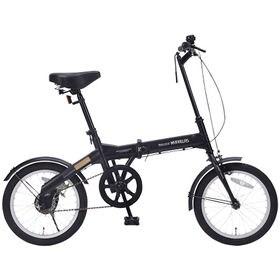 【ブラック】コンパクト折畳自転車16インチ