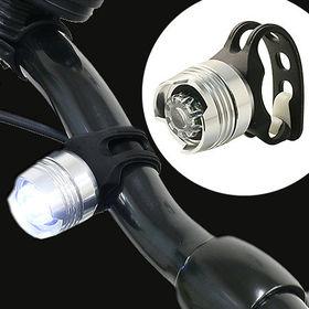 【シルバー】自転車LEDライト