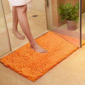 【オレンジ】さらさら 速乾 マイクロファイバー バスマット ...