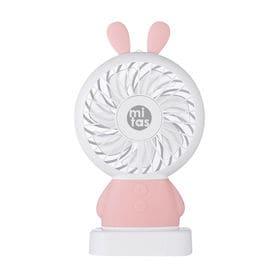 [ピンク]ハンディファン うさみみ扇風機