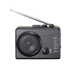 AM/FMラジオカセットレコーダー+デジタルデータ保存「楽々...