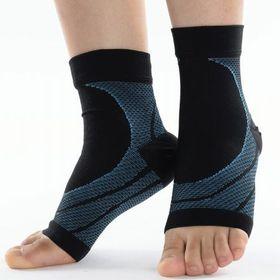 【ブルー・L】優れた伸縮性で足首をしっかりホールド  アーチ...